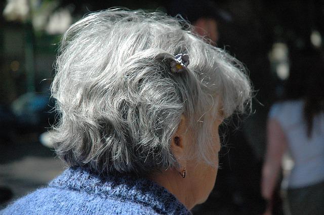 祖母の後ろ姿